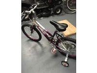 Girls Raleigh Krush bicycle