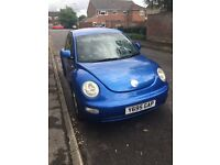 Blue VW Beetle 2001 2Litre. MOT. Good condition inside and out.