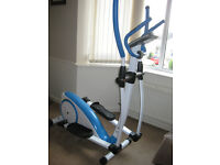 Elliptical, magnetic resistance cross trainer