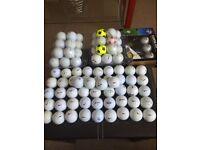 Golf balls x100 taylormade,pro v,nike,callaway,srixon etc
