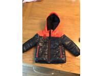 Boys 3 pommes jacket age 3, navy and orange.