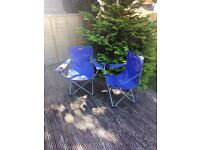 Two camping chairs in very good condition Eurohike