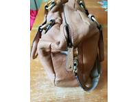 Storksak Elizabeth Baby Changing Bag in Tan leather