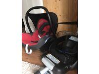 Maxi cosi car seat and isofix base