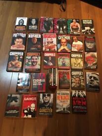 Crime books (£1 each)