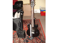 Electric Guitar complete with Amplifier/Speaker and Stand
