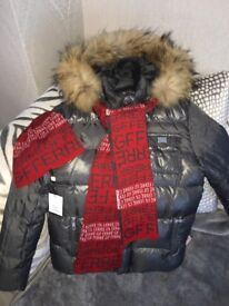 Boys GF FERRE designer coat, hat, scarf & suit