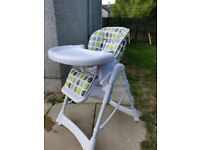 Adjustable high chairs.