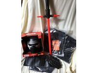 Brand New Deluxe Kylo Ren Costume ( adults large size) with Disney Lightsaber and Voice Changer Mask