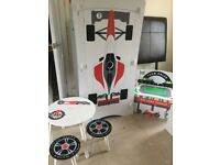 Kidsaw speed racer wardrobe, play box and table/stools