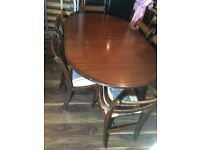Real wood dining table + 6 chairs Can deliver