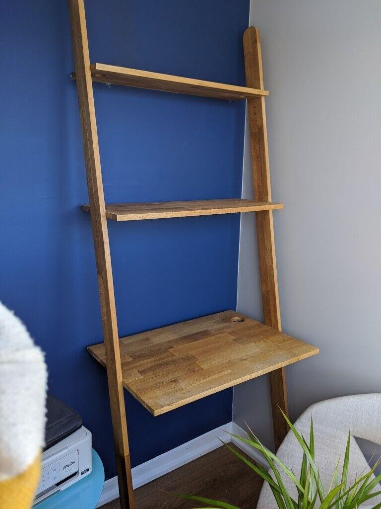 Oak Lean To Desk From Futon Company