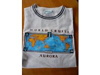 P & O world cruise tee shirt the cruise that never sailed 2005 Aurora