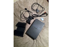 Playstation 2 PS2 Console Bundle 6 Games + 5 PS1 Games 1 Controller 1 Memory Card, Stand & Box