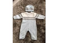 Emile Et Rose Baby Boys Knitted Babygrow