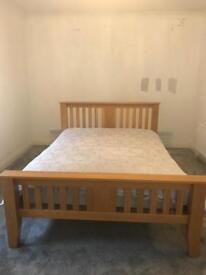 Solid oak bedroom furniture.