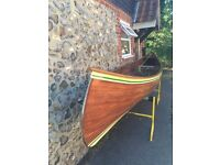 Canadian Canoe AlexandraRose Teak 16 foot 2-3 person in excellent used condition plus all equipment