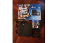 Sony PS4 500GB - 10 x Games, 2 x DualShock 4 Pads