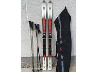 170cm Rossignal Bandits with 2 set of poles and ski bag