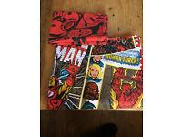 Marvel super hero single duvet cover
