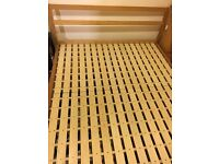 Muji Queen size (large double) bed and mattress