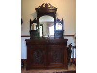 antique mirror sideboard dresser