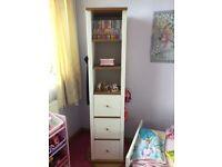 Mothercare children's drawer unit, mirror swivel base H170cm W 42cm D42cm