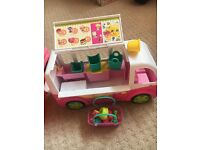 Shopkins ice cream truck and accessories
