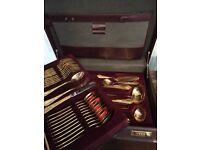 Nivella gold plated cutlery set in presentation box