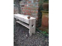 """Recycled Wood, Two Seater Garden """"Memories"""" Bench with Hearts ideal as Wedding / Valentines Gift..."""