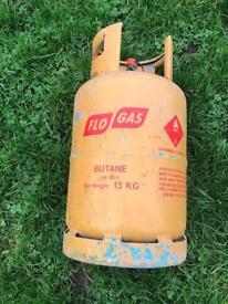 Flowgas empty butane gas bottle