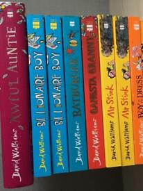 David Walliams and Tom Gates book collection