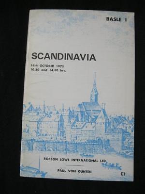 ROBSON LOWE AUCTION CATALOGUE 1975 SCANDINAVIA