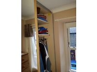 NOLTE large floor to ceiling double door, mirrored Wardrobe