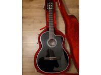 Takamine GC3CE Black electro Acoustic Guitar Classical with cutaway + Hard Case