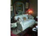 Laura Ashley oatmeal coloured sofa £110