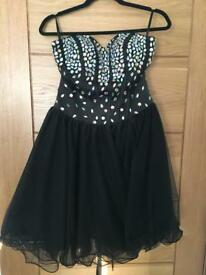 Ladies black party dress.