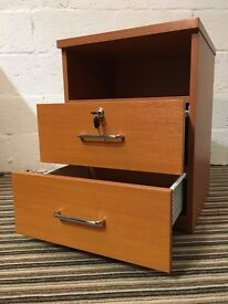 Cherry wood bedside cabinet