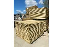 🌲 Pressure Treated Straight Top Wooden Garden Fence Panels