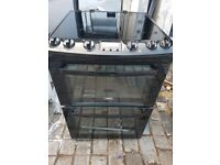 Black Zanussi 60cm free standing electric cooker, 4 months warranty