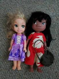Disney Rapunzel and Lilo 14 inch dolls