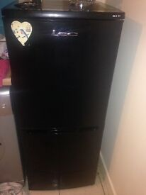 Black Lec fridge freezer, works perfectly just doesn't have bottom shelve inside the door only top