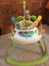 Fisher Price space saving Rainforest Jumperoo - excellent condition