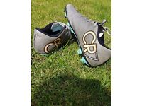 Silver Nike CR7 Football Boots Size 7