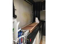 Unfinished catering trailer project