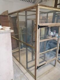 6ft x 3ft x 6ft high aviary