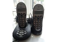 Tevion set of 2 home phones with answering machine