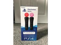 PS Move PS4 Controllers Brand New & Sealed