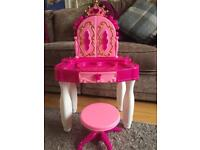 Girls toy dressing up table