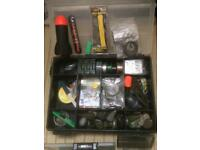 Large fox box and bits joblot